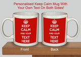 Personalised Keep Calm and Carry On Mug