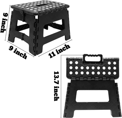 Super Strong Plastic 9 Inch Folding Step Stool Multi Purpose Home Kitchen Use