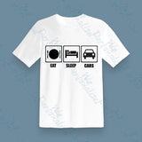 Personalised T Shirt Eat Sleep ......Gift for Him