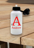 Personalised Red Football Water Bottle