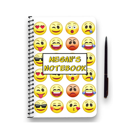 Personalised Emoji Patterned Notebook