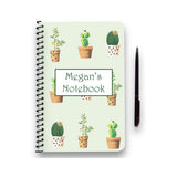Personalised Cactus Patterned Notebook