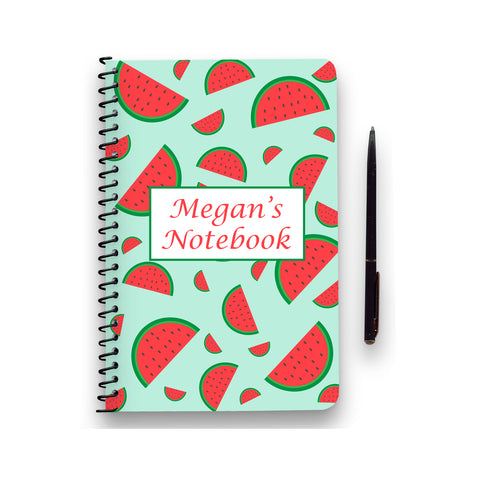 Personalised Watermelon Patterned Notebook