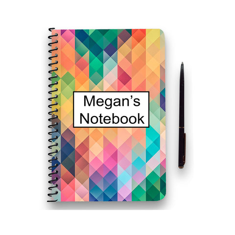 Personalised Geometric Patterned Notebook