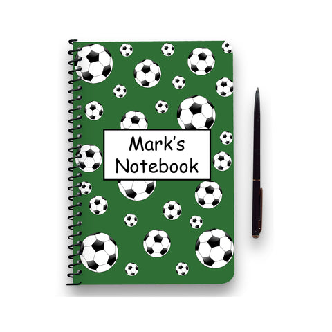 Personalised Football Patterned Notebook