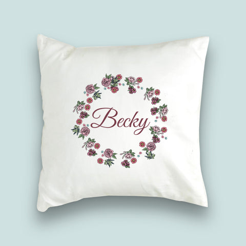 Rose Wreath Collection Cushion Cover