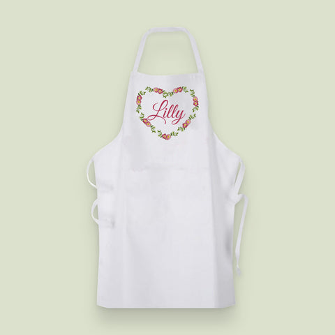 Heart Wreath Collection Apron
