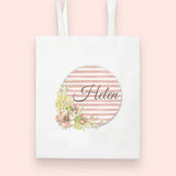 Floral Stripe Collection Tote Bag
