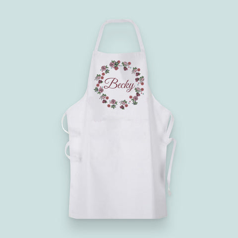 Rose Wreath Collection Apron