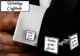 Personalised Wedding Square Cufflinks