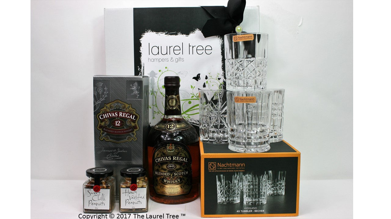 LAUREL TREE CHIVAS NACHTMANN WHISKY SET GIFT HAMPER
