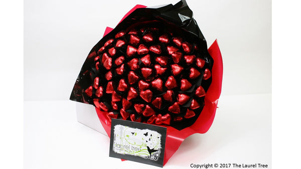 LAUREL TREE LOVE IS RED CHOCOLATE BOUQUET