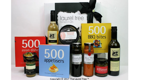 LAUREL TREE COOKBOOK TRIO GOURMET GIFT HAMPER