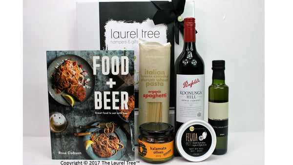 LAUREL TREE FOOD PLUS BEER GIFT HAMPER