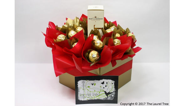 LAUREL TREE MOET & CHANDON CHOCOLATE BOUQUET