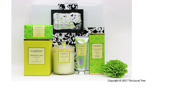 LAUREL TREE MONTEGO BAY GLASSHOUSE GIFT HAMPER