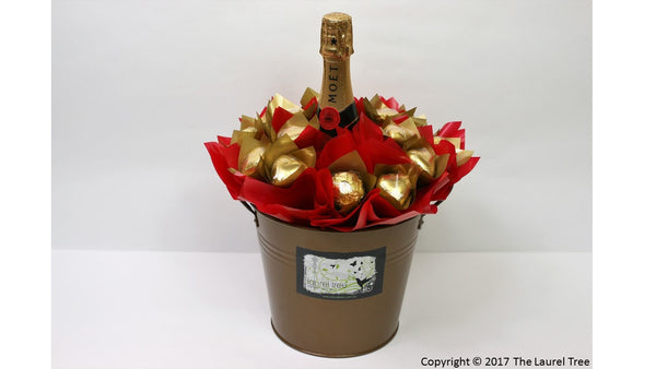 LAUREL TREE MOET DELIGHT OF GOLD CHOCOLATE BOUQUET