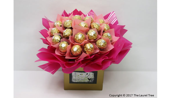 LAUREL TREE PRETTY IN PINK CHOCOLATE BOUQUET