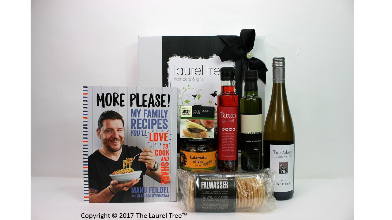 LAUREL TREE MORE PLEASE WITH MANU GIFT HAMPER
