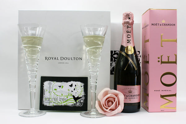 LAUREL TREE MOET DOULTON CELEBRATION GIFT HAMPER