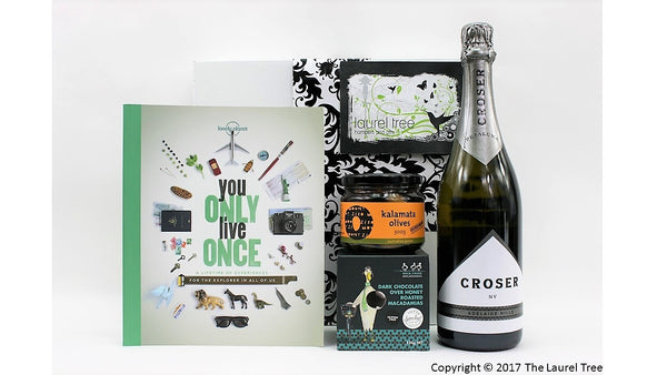 LAUREL TREE YOU ONLY LIVE ONCE GIFT HAMPER