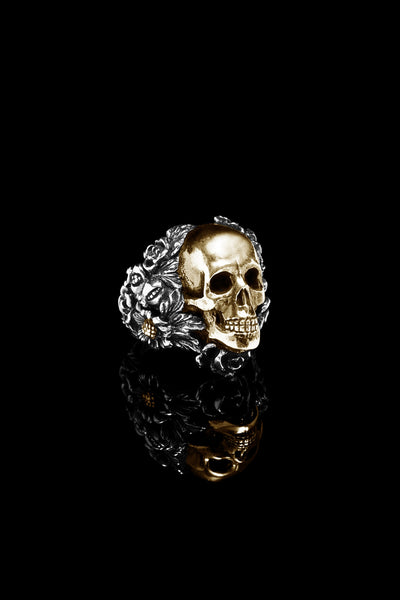 Small Skull Foliage Ring