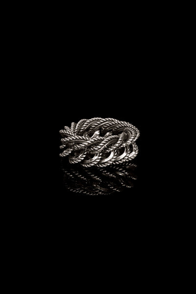 Fine Chain & Cable Ring - Ugo Cacciatori