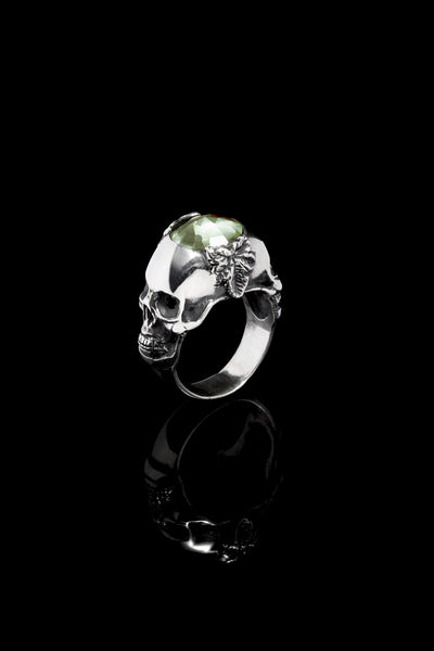 Ugo Cacciatori, Silver, Jewelry, Sterling Silver, Ring, Green Amethyst, Green Amethyst and Black Diamonds, Green Amethyst and Brown Diamonds, Green Amethyst and Emeralds, Green Amethyst and Rubies, Green Amethyst and Sapphires