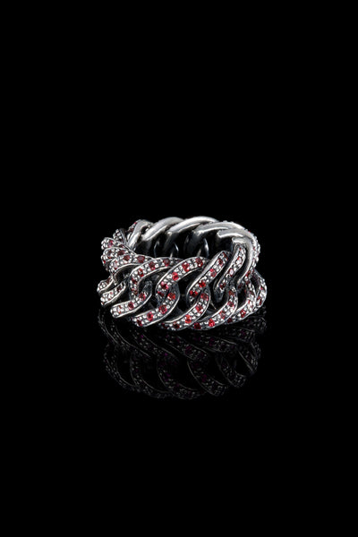 Ugo Cacciatori, Silver, Jewelry, Sterling Silver, Ring, Rubies, Rubies, Sapphires, Emeralds, Black Diamonds, Brown Diamonds
