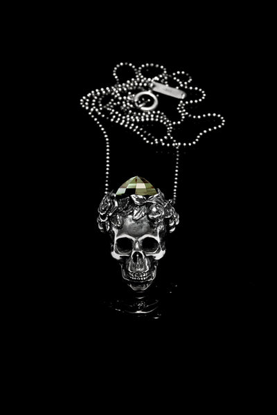 Ugo Cacciatori, Silver, Jewelry, Sterling Silver, Pendant, Green Amethyst, Green Amethyst and Black Diamonds, Green Amethyst and Brown Diamonds, Green Amethyst and Emeralds, Green Amethyst and Rubies, Green Amethyst and Sapphires