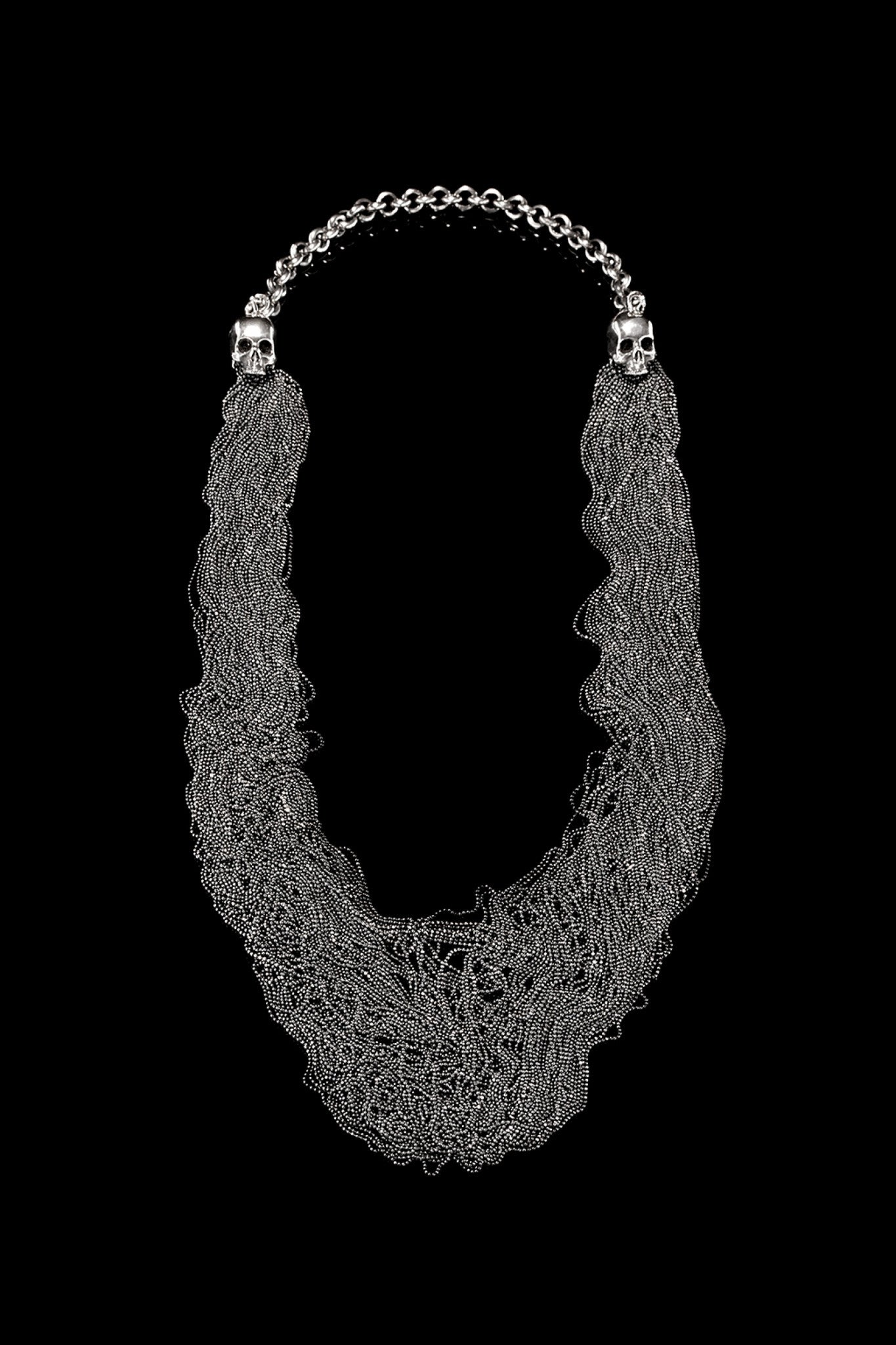Ugo Cacciatori, Silver, Jewelry, Sterling Silver, Necklace, Silver, Black Diamonds, Brown Diamonds, Emeralds, Rubies, Sapphires