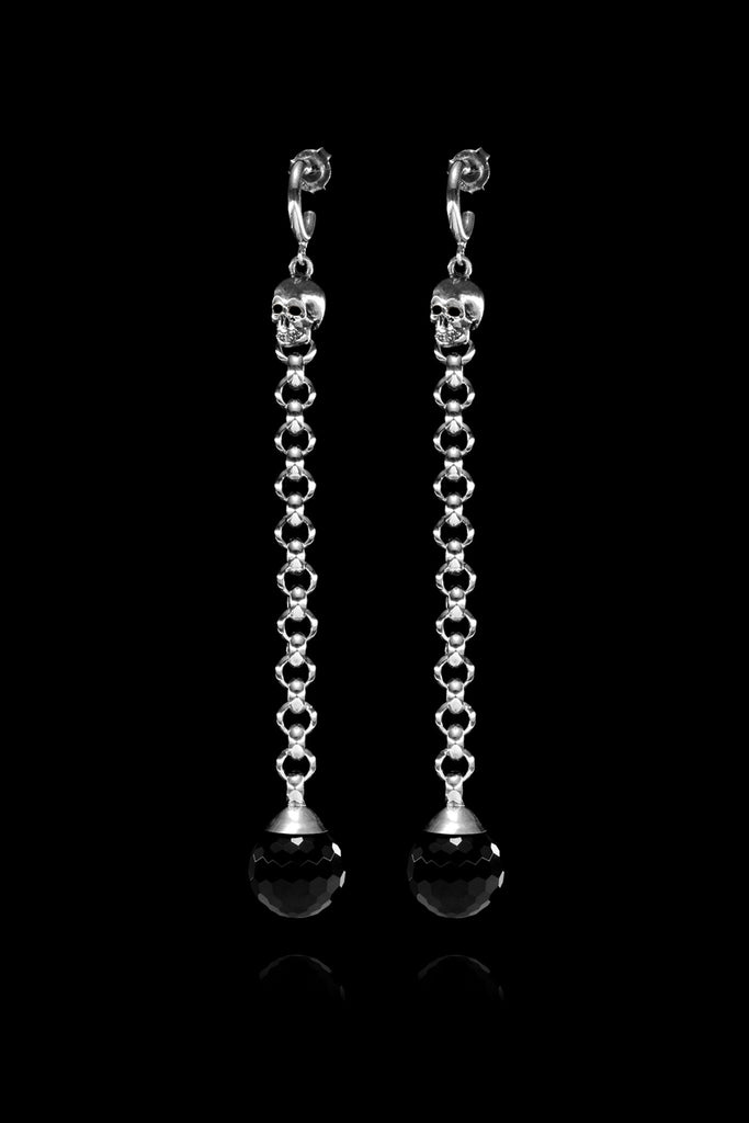 Ugo Cacciatori, Silver, Jewelry, Sterling Silver, Earrings, Onyx, Onyx and Black Diamonds, Onyx and Brown Diamonds, Onyx and Emeralds, Onyx and Rubies, Onyx and Sapphires
