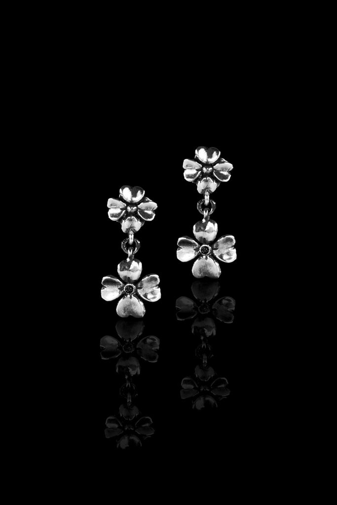 Ugo Cacciatori, Silver, Jewelry, Sterling Silver, Earrings, Black Diamonds, Brown Diamonds, Emeralds, Rubies, Sapphires