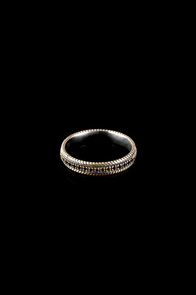 Ugo Cacciatori, Gold, Jewelry, 9kt Gold + Sterling Silver, Ring, Black Diamonds, Brown Diamonds