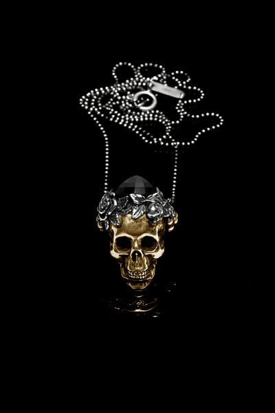 Ugo Cacciatori, Gold, Jewelry, 9kt Gold + Sterling Silver, Pendant, Onyx, Onyx and Black Diamonds, Onyx and Brown Diamonds