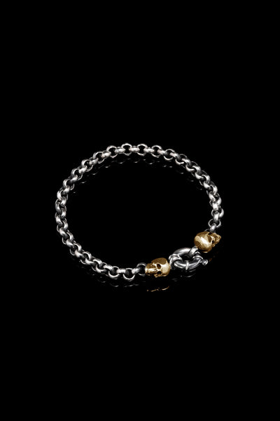 Ugo Cacciatori, Gold, Jewelry, 9kt Gold + Sterling Silver, Bracelet, Gold + SIlver, Black Diamonds, Brown Diamonds