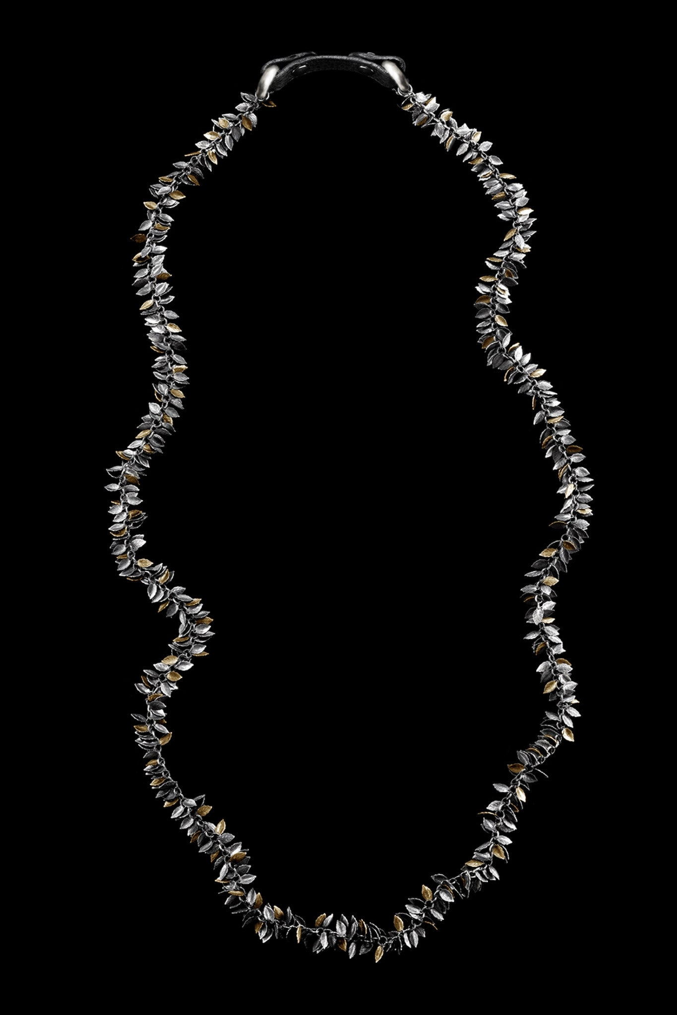 Ugo Cacciatori, Gold, Jewelry, 9kt Gold + Sterling Silver, Necklace, Gold + SIlver