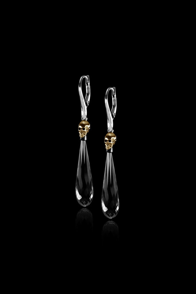 Hanging Skull Drop Earrings - Ugo Cacciatori