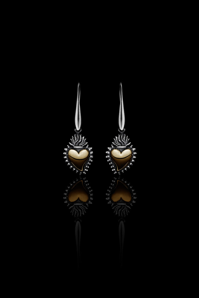 Ugo Cacciatori, Gold, Jewelry, 9kt Gold + Sterling Silver, Earrings, Gold + SIlver