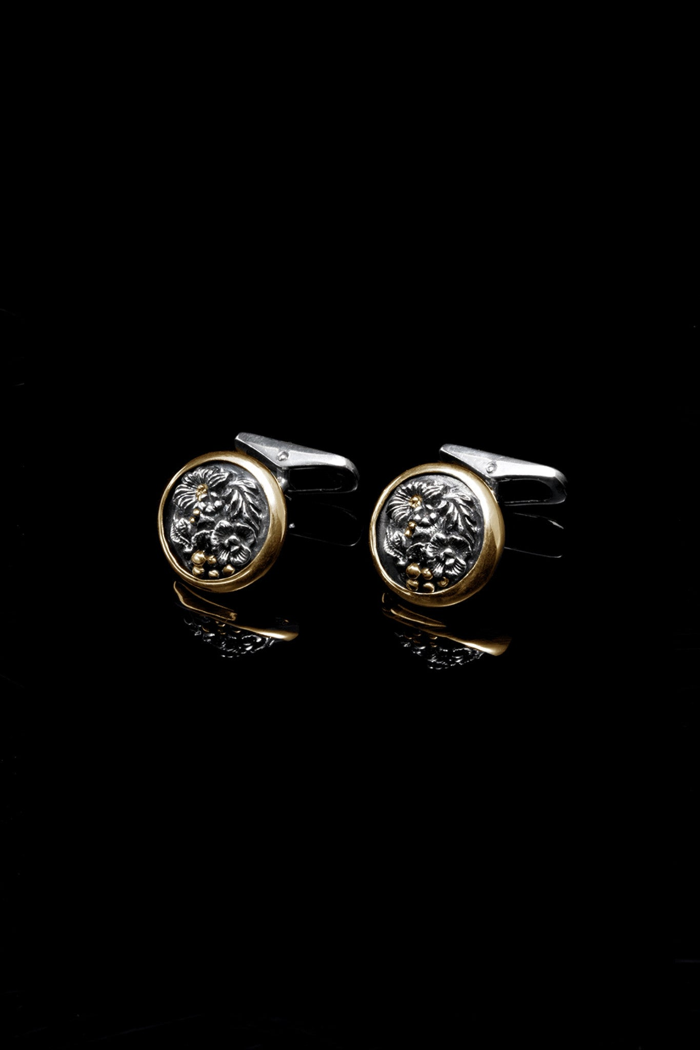 Ugo Cacciatori, Gold, Jewelry, 9kt Gold + Sterling Silver, Cufflinks, Gold + SIlver