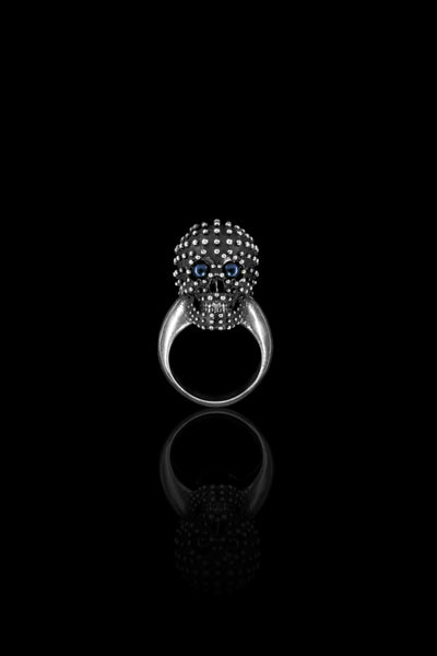 Dot Pearls Skull Ring