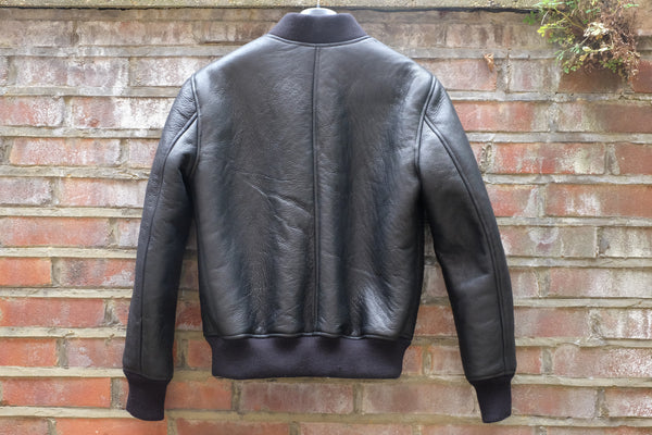 Black Shearling bomber jacket