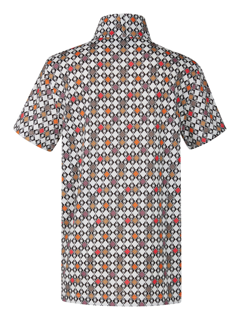 Kids Ice Fil Short Sleeve Riding Shirt Print
