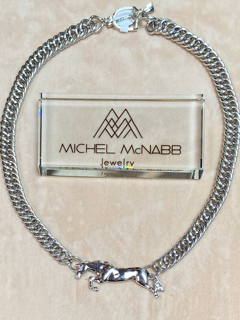 Michel McNabb Horse Curb Chain Necklace