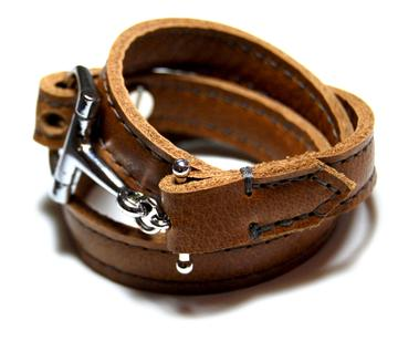 Percheron Leather Wrap Bracelet by AtelierCG
