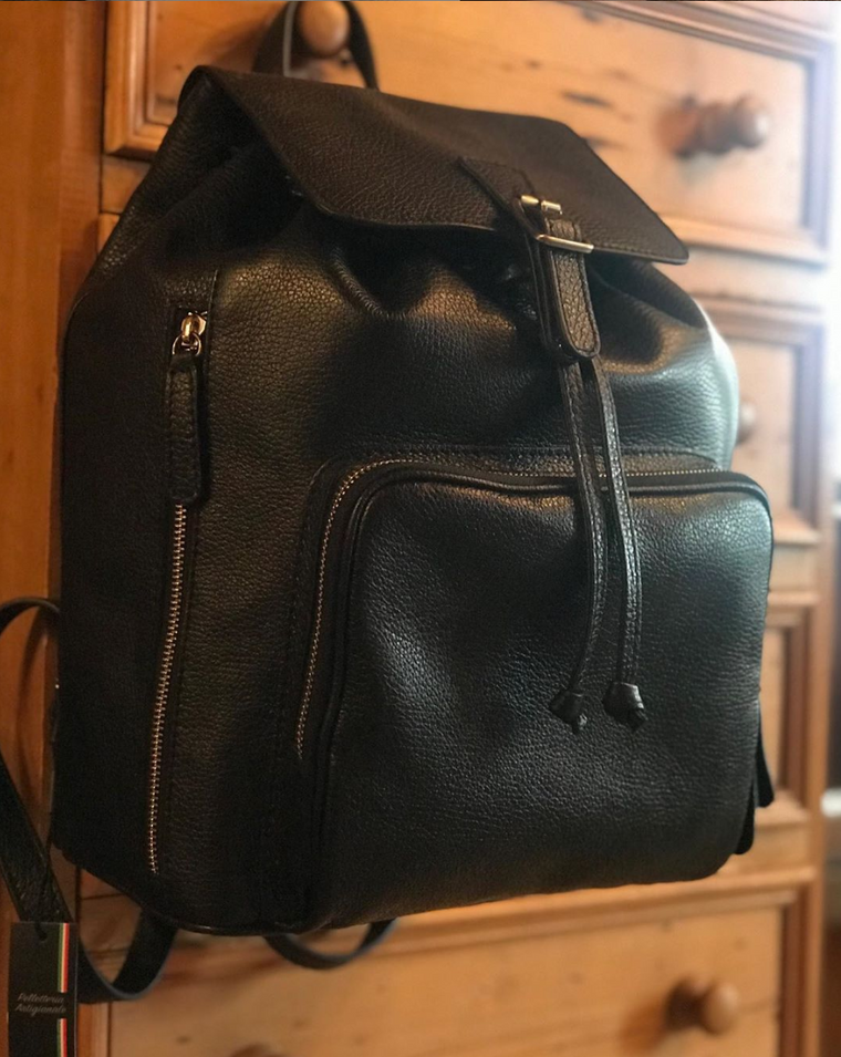 Tailored Sportsman Leather Back Pack Black