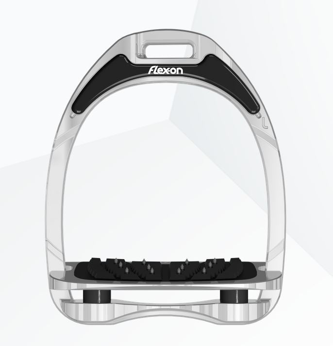 Flex-On Almuminum Stirrups, aluminum w/ black