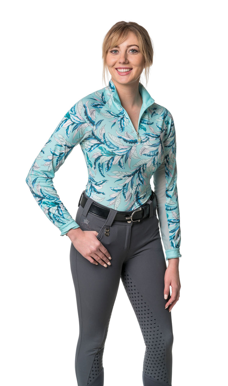Kastel Denmark Long Sleeve Tropical Blue Sunshirt