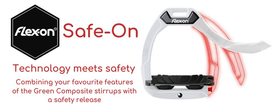 Flex-On Safe-On Safety Stirrups Black