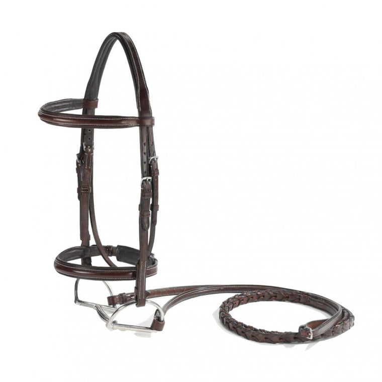 Vespucci Plain Raised Padded Bridle